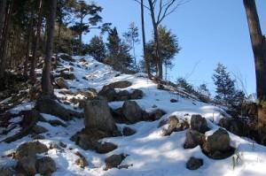 伊豆ヶ岳 雪道のぼり