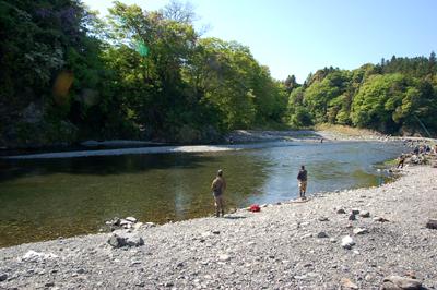 奥多摩河原キャンプ