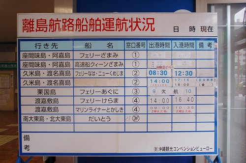 沖縄2009秋_6_予定変更して渡嘉敷へ