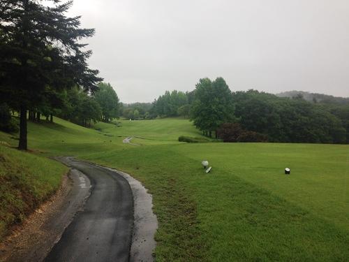 うぐいすの森ゴルフ2014夏_雨の1日目