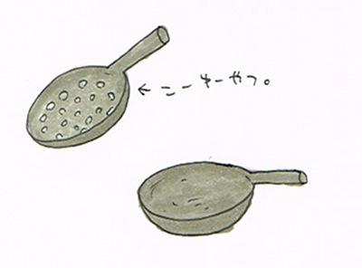 穴あき中華鍋の使い道