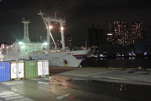 大島キャンプ2015初秋_行きの船。甲板独占状態