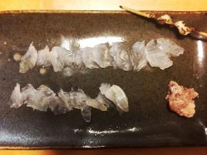 釣魚料理_カワハギの刺身とタカノハダイのべっこう丼