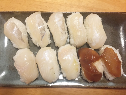釣魚料理_ウスバハギの握り寿司