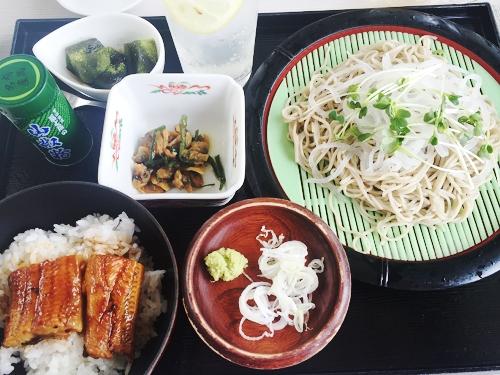 サンヒルズカントリー_大根蕎麦とミニ鰻丼