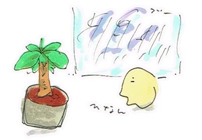 台風とバナナの木