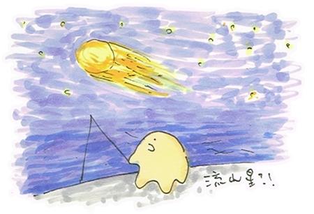 大きい流れ星かUFO