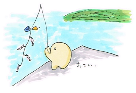 福浦漁港で釣り