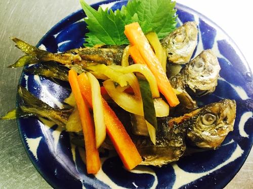 釣魚料理_豆アジの南蛮漬け