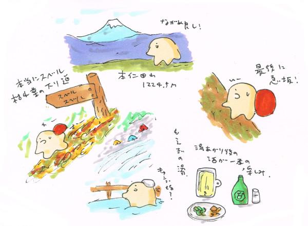 本仁田山~さわらびの湯_スベル!急坂