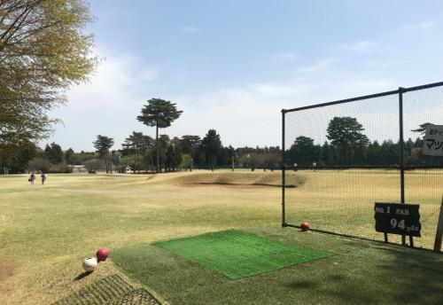南筑波ゴルフ場でアプローチ猛練習