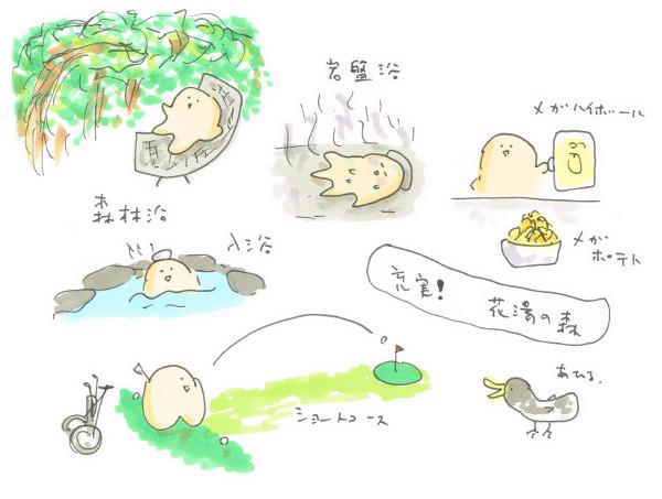 花湯の森ショートコースと温泉