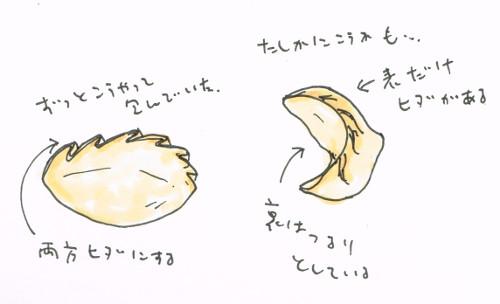 餃子の包み方
