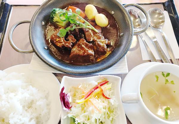 皆川城カントリークラブ_食事_牛ほほ肉のビーフシチュー