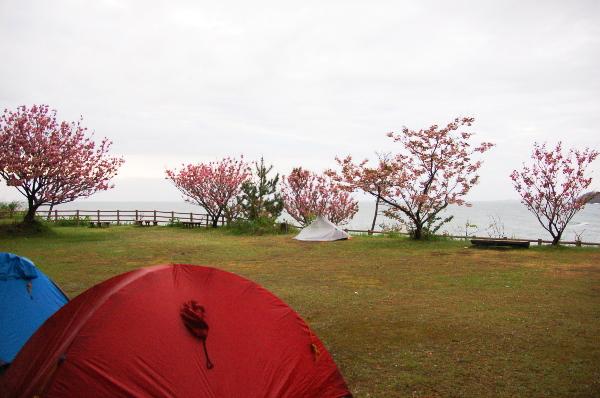 北海道から南下の旅_6日目_2_三崎公園キャンプ場で懐メロ大会