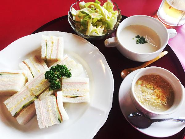 ラインヒルゴルフ_食事_レディースセット(サンド&ココット)