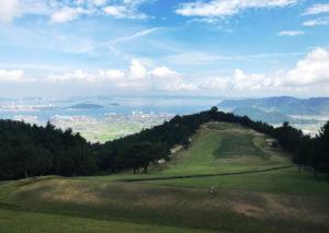 四国漫遊記2018_5日目_1_高松カントリー倶楽部から瀬戸内海を眺める