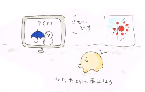 いきなり雨予報