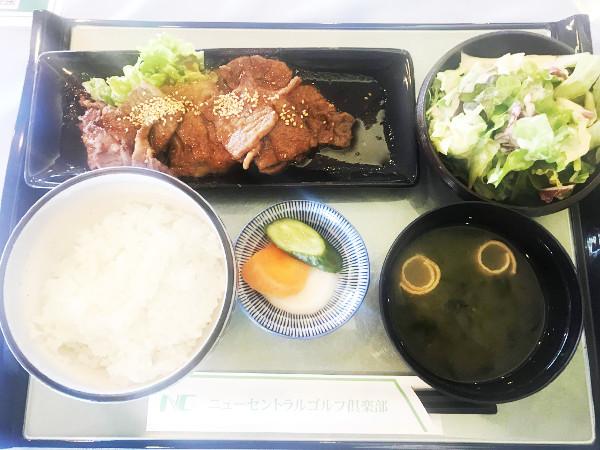 ニューセントラルゴルフ倶楽部_食事_国産牛カルビ焼肉定食