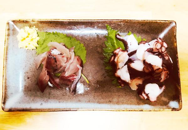 釣魚料理_タコとムロアジの刺身