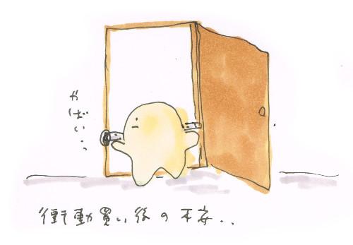 洗濯機のためにドアを外す