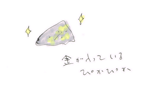 金の含まれた石