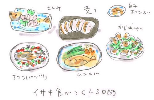 毎日イサキ料理いろいろ