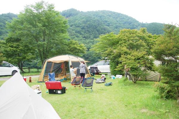 犬連れゴルフ&キャンプ2019年7月_3_東古屋湖キャンプ場