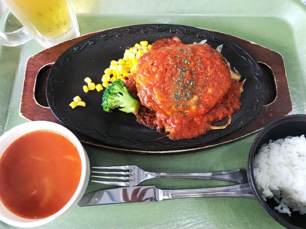 土浦カントリー_食事_ハンバーグトマトソース