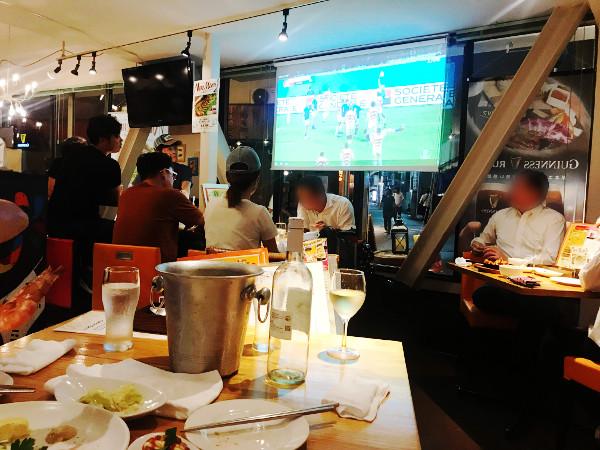 スンドュブバルでラグビーを観る