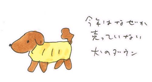 犬のダウンジャケットの今年
