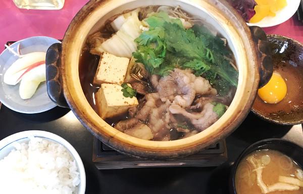 皐月ゴルフ鹿沼コース_食事_すき焼き