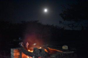 大島2020年1月_1日め_今年初の大島キャンプで満月浴