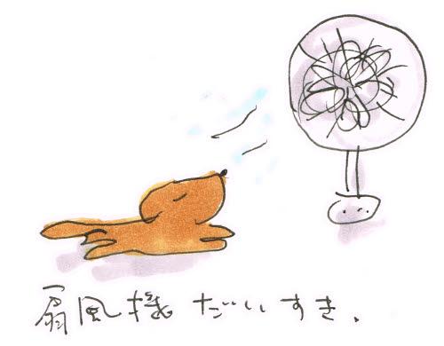 犬と扇風機