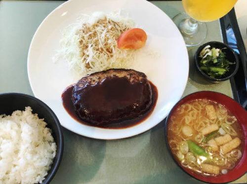 習志野カントリークラブ_食事_ハンバーグ