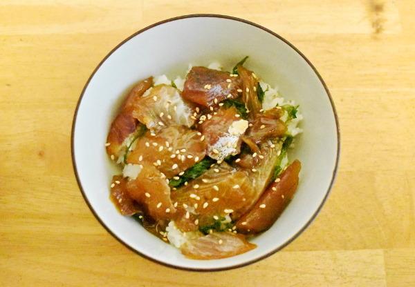 釣魚料理_タカノハダイの漬け丼