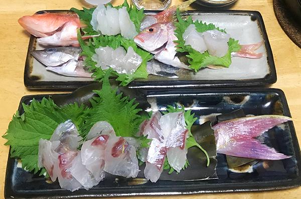 釣魚料理_小さい「タイ」色々刺身