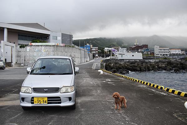 伊豆大島2021年8月_1日目_1_腹ペコご飯と弘法浜と元町港
